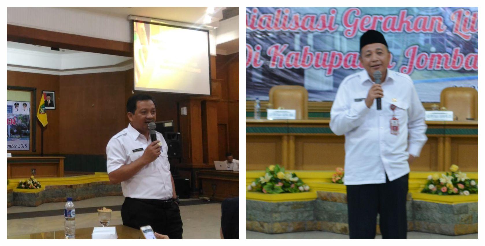 Sosialisasi Gerakan Literasi di Kabupaten Jombang tanggal 21 Nopember 2018