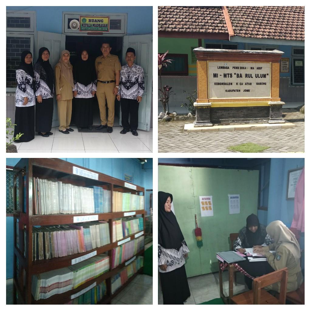 Pembinaan Perpustakaan di MI Bahrul Ulum Kebondalem Bareng